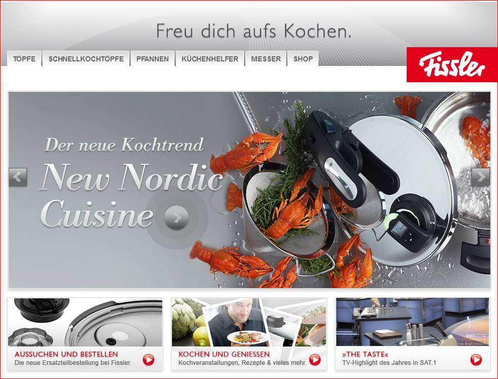 Homepage von Fissler.de