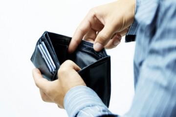 leeres Portemonnaie